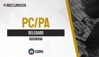 Recurso | Concurso | Delegado da Polícia Civil do Pará (PC/PA) | Discursiva