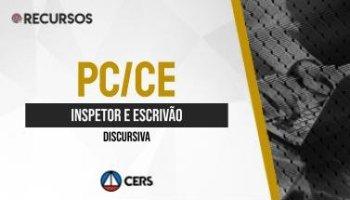 Recurso | Concurso | Inspetor e Escrivão da Polícia Civil do Ceará (PC/CE) | Discursiva