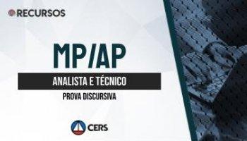 Recurso | Concurso | Analista e Técnico do Ministério Público do Amapá (MP AP) | Discursiva