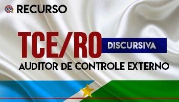 Recurso | Concurso | Auditor de Controle Externo do Tribunal de Contas de Rondônia (TCE/RO)