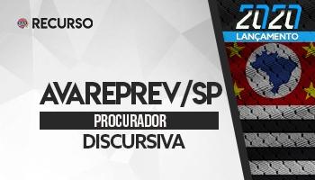 Recurso | Concurso | Procurador da AVAREPREV/SP | Prova Discursiva