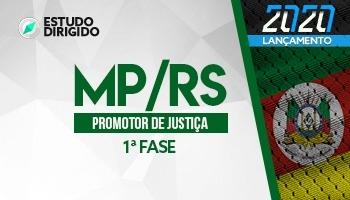 Curso | Concurso MPRS | Promotor de Justiça | 1ª Fase | Estudo Dirigido