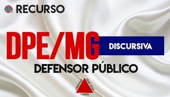 Recurso   Concurso   Defensor Público de Minas Gerais (DPE/MG)