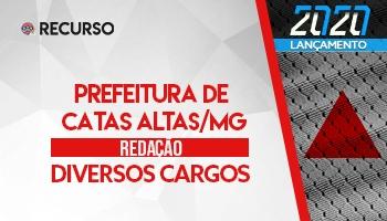 Recurso | Concurso | Prefeitura de Catas Altas/MG | Redação
