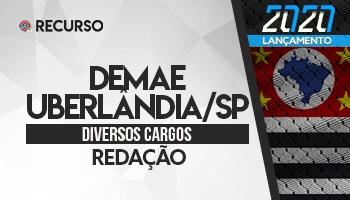 Recurso | Concurso | DEMAE/Uberlândia | Prova de Redação