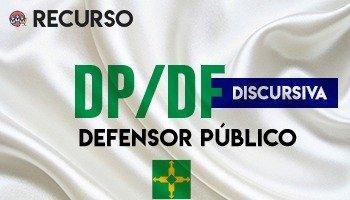 Recurso   Concurso   Defensor Público do Distrito Federal (DP/DF)