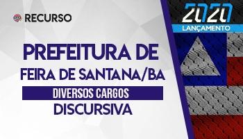 Recurso   Concurso   Prefeitura de Feira de Santana/BA