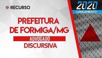 Recurso | Concurso | Procurador da Prefeitura de Formiga/MG