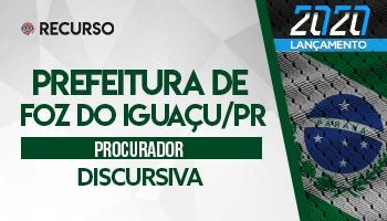 Recurso | Concurso | Procurador de Foz do Iguaçu
