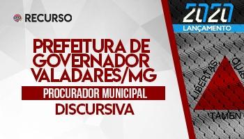 Recurso | Concurso | Procurador da Prefeitura de Governador Valadares/MG