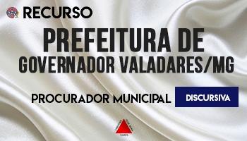 Recurso   Concurso   Procurador da Prefeitura de Governador Valadares/MG