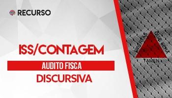 Recurso | Concurso | Auditor Fiscal da Prefeitura Contagem/MG | Prova Discursiva