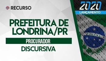 Recurso | Concurso | Procurador da Prefeitura de Londrina (PGM/Londrina)