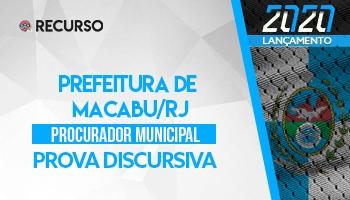 Recurso | Concurso | Procurador da Prefeitura de Conceição de Macabu/RJ | Prova Discursiva
