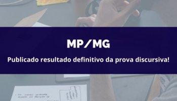 CONCURSO DO MP/MG (Promotor) (18/05/2020): Publicado resultado definitivo da prova discursiva!