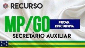 Recurso   Concurso   Secretário Auxiliar do Ministério Público de Goiás (MP/GO)