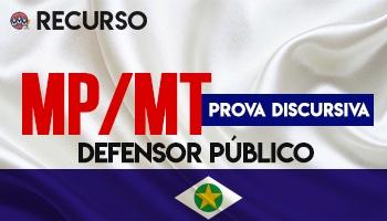 Recurso | Concurso | Ministério Público do Mato Grosso (MP/MT)