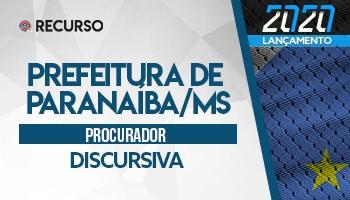 Recurso | Concurso | Procurador do Município de Paranaíba/MS