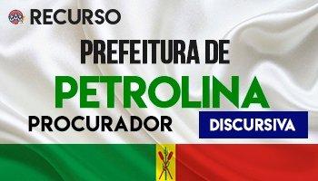 Recurso | Concurso | Câmara Municipal de Petrolina