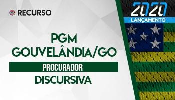 Recurso | Concurso | Procurador da Prefeitura de Gouvelândia/GO | Prova Discursiva