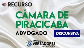 Recurso | Concurso | Câmara de Piracicaba/SP