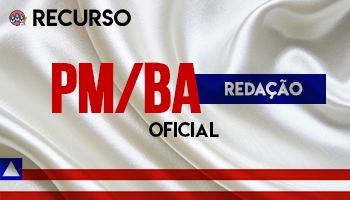 Recurso   Concurso   Oficial da Polícia Militar da Bahia (PM/BA)