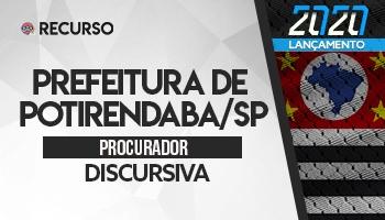 Recurso | Concurso | Procurador do Município de Potirendaba/SP