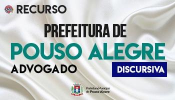 Recurso | Concurso | Prefeitura de Pouso Alegre - MG