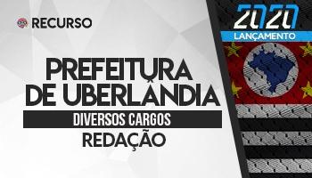 Recurso | Concurso | Prefeitura de Uberlândia/MG | Redação
