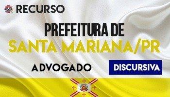 Recurso   Concurso   Advogado da Prefeitura de Santa Mariana (PR)