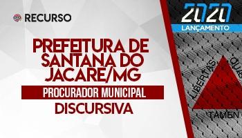 Recurso   Concurso   Procurador da Prefeitura de Santana do Jacaré/MG