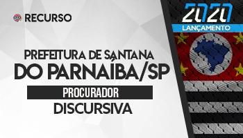 Recurso   Concurso   Procurador da Prefeitura de Santana do Parnaíba/SP