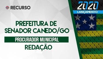 Recurso | Concurso |Prefeitura de Senador Canedo/GO | Redação