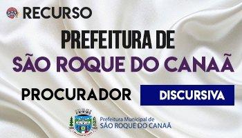 Recurso   Concurso   Procurador do Município de São Roque do Canaã/ES