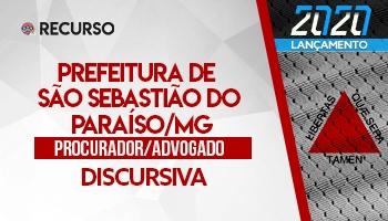 Recurso | Concurso | Procurador da Prefeitura de São Sebastião do Paraíso/MG | Discursiva