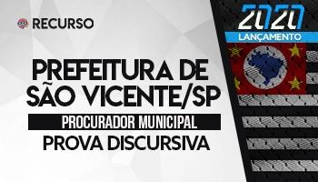 Recurso | Concurso | Procurador da Prefeitura de São Vicente/SP