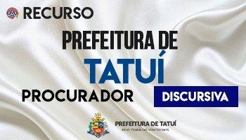 Recurso   Concurso   Prefeitura de Tatuí