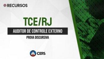Recurso | Concurso | Auditor do Tribunal de Contas do Rio de Janeiro (TCE/RJ) | Prova Discursiva