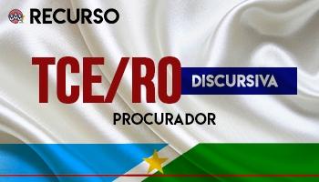 Recurso | Concurso | Procurador do Tribunal de Contas de Rondônia (TCE/RO)