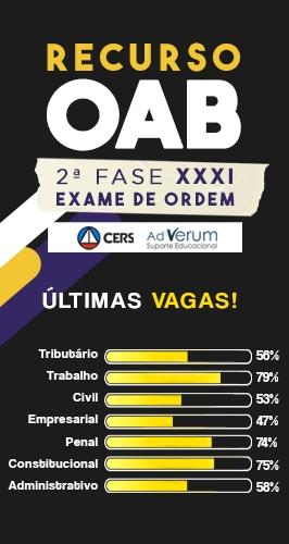Conquiste sua aprovação no XXXI Exame de Ordem através do Recurso para 2ª Fase OAB da AdVerum