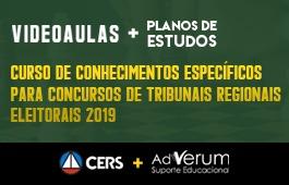 COMBO: CURSO DE CONHECIMENTOS ESPECÍFICOS PARA CONCURSOS DE TRIBUNAIS REGIONAIS ELEITORAIS 2019 + PLANOS DE ESTUDO COM TUTOR | CRONOGRAMA SERVIDOR TRE - ANALISTA E TÉCNICO - 03 MESES