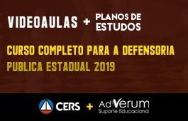 COMBO: CURSO COMPLETO PARA A DEFENSORIA PÚBLICA ESTADUAL 2019 + PLANOS DE ESTUDO COM TUTOR| CRONOGRAMA DEFENSOR PÚBLICO ESTADUAL (DPE) - 03 MESES