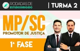 Curso | Rodadas de Estudo Dirigido | 1ª Fase | Concurso Promotor de Justiça de Santa Catarina (MP/SC) | Turma 2