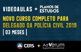 COMBO: NOVO CURSO COMPLETO PARA DELEGADO DA POLÍCIA CIVIL 2019 + PLANOS DE ESTUDOS DE DELEGADO POLICIA CIVIL - 03 MESES