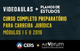 COMBO: CURSO COMPLETO PREPARATÓRIO PARA CARREIRA JURÍDICA MÓDULOS I E II 2019 + PLANOS DE ESTUDOS CARREIRAS JURÍDICAS - 03 MESES