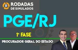 Curso | Rodadas de Simulados | 1ª Fase | Concurso Procurador do Estado do Rio de Janeiro (PGE/RJ) | Pré-Edital