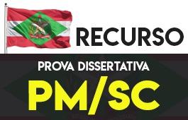 Recurso | Concurso | Oficial da Polícia Militar de Santa Catarina (PM/SC)