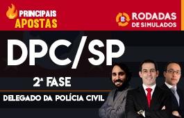 Curso | Rodadas de Simulados | 2ª Fase | Concurso Delegado da Polícia Civil de São Paulo (DPC/SP) | Principais Apostas