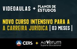 COMBO: NOVO CURSO INTENSIVO PARA A CARREIRA JURÍDICA + PLANOS DE ESTUDOS CARREIRAS JURÍDICAS - 03 MESES