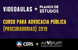COMBO: CURSO PARA ADVOCACIA PÚBLICA (PROCURADORIAS) 2019 + PLANOS DE ESTUDO COM TUTOR | CRONOGRAMA ADVOGADO DA UNIÃO (AGU) - 03 MESES